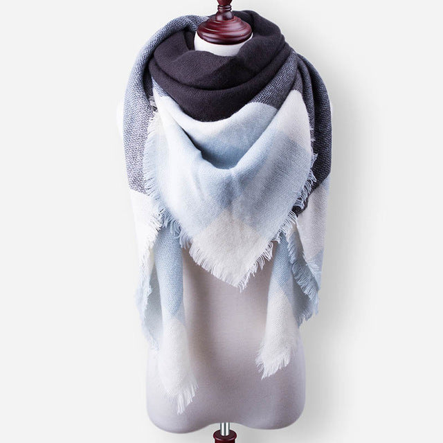 Classic Winter Blanket Scarf For Womens