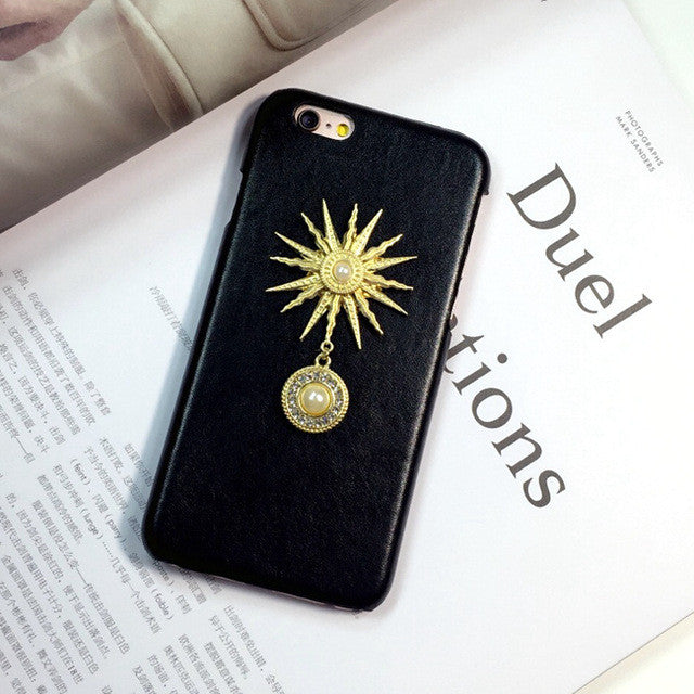 Retro Pearl And Sun Phone Cases
