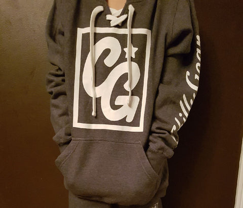 Chilly Gear Grey and White Hoodie
