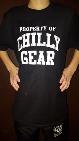 Property of Chilly Gear Black Tee