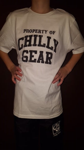 White Property of Chilly Gear T-shirt