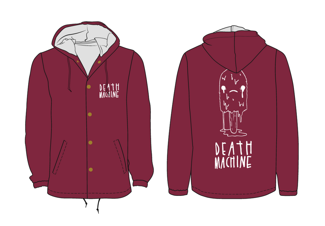 Hooded Oops All Death Machine Coaches Jacket