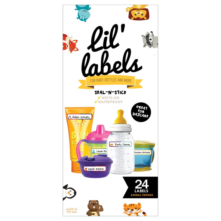 SEAL-N-STICK LABELS | Animal Friends; self-laminating