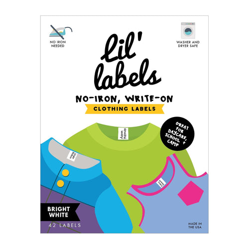 CLOTHING LABELS | Bright White - Lil' Labels