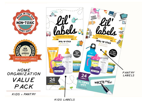 HOME ORGANIZATION VALUE PACK | Kids + Pantry - Lil' Labels