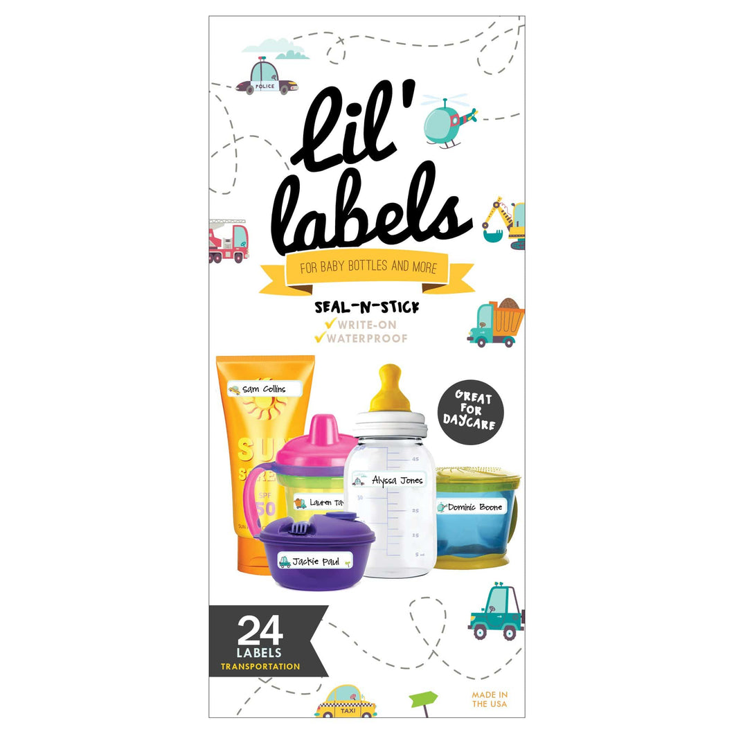 BOTTLE LABELS | Transportation - Lil' Labels