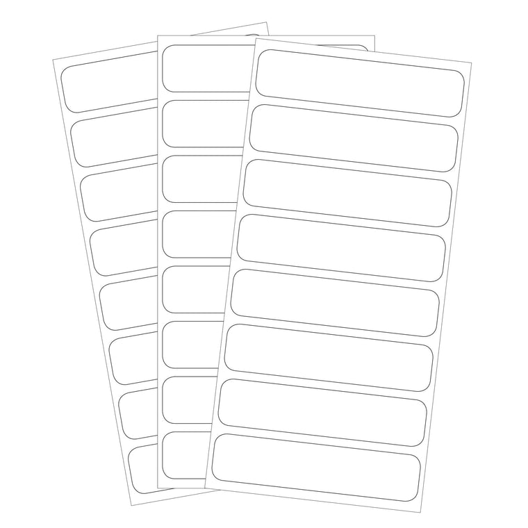 SEAL-N-STICK LABELS | All-Purpose White; self-laminating