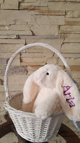 Monogrammed Embroidered Jelly cat inspired  Plush Bunny