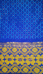 Blue Brocade George African Fabric