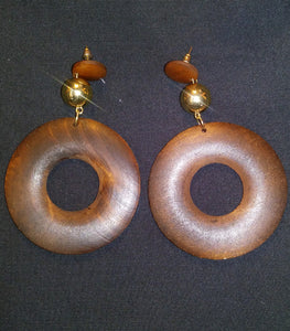 Wooden Circle Earring