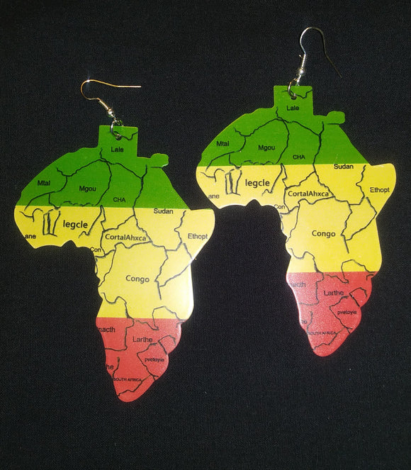 Tri-Color Africa Earring