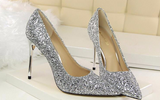 Sequined European Wedding Pumps