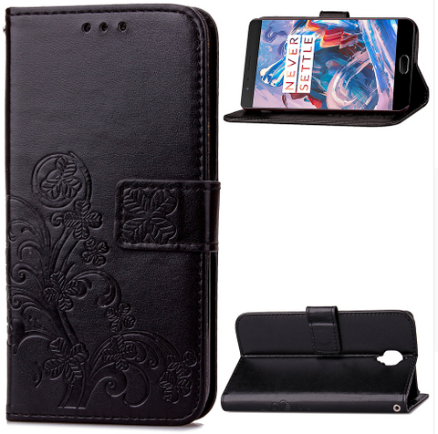 Shockproof Soft Silicone Flip Wallet For One Plus 3 Phone FREE + SHIPPING
