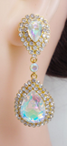 Bride Rhinestone Crystal Tear Drop Earrings