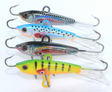 4pcs 60mm 10g Fishing Lure winter Ice Fishing Hard Bait Minnow Pesca Tackle Isca Artificial Bait Crank bait Swim bait