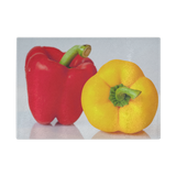 Red-Yellow Pepper Glass Cutting Board
