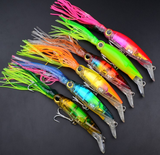 6 PCS Big Size Hard Fishing Lure Fish Bait 24cm/40g Fishing Tackle 6 Color Available Squid Lure Fishing Bait