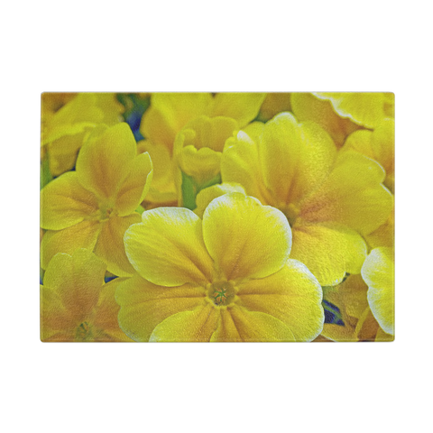 Field Of Flowers Glass Cutting Board
