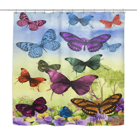 Butterflies Galore Shower Curtain