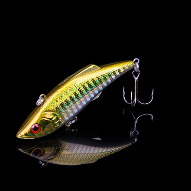 Fishing Lures Laser VIB 74mm 13g Heavy Hard Lure Artificial Bait Multi With 3D Eyes BBK Treble Hooks