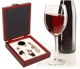 4 pc  Wine Gift Set In Wood Gift Box