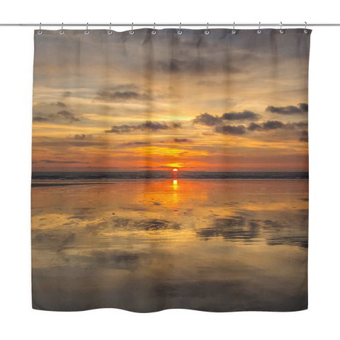Mirrored Sunset Shower Curtain