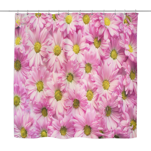 Pink Daisies Shower Curtains