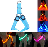 Nylon LED Dog/Cat Harness Collar Vest High Quality Safety