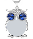Crystal Owl Necklace Pendant