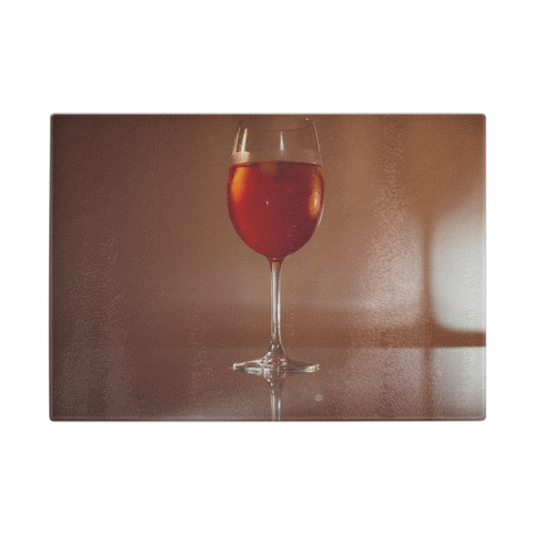 Red Glass Cutting Board