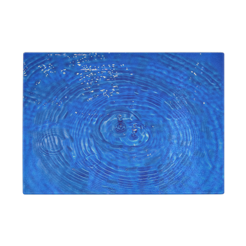 Deep Blue Water Glass Cutting Board