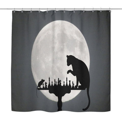 A Game Of Cat And Mouse Shower Curtain
