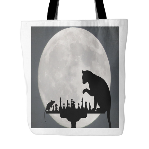 A Game Of Cat And Mouse Tote Bag