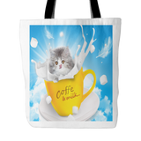 Kitty In A Cup Tote Bag