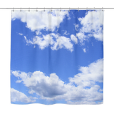 Blue Sky White Clouds Shower Curtain