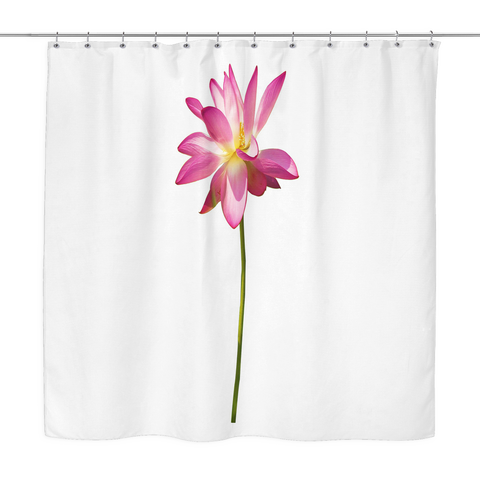 Country Lotus Shower Curtain