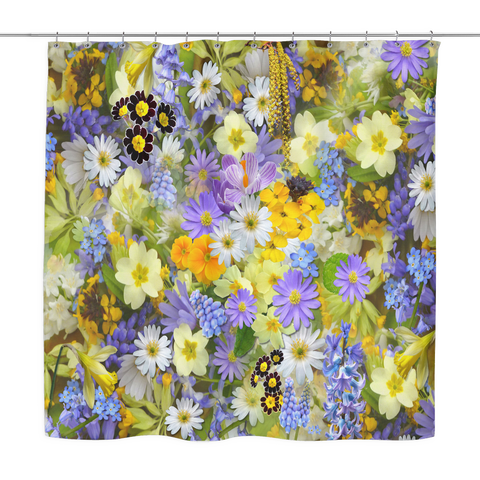 Spring Flowers Shower Curtains