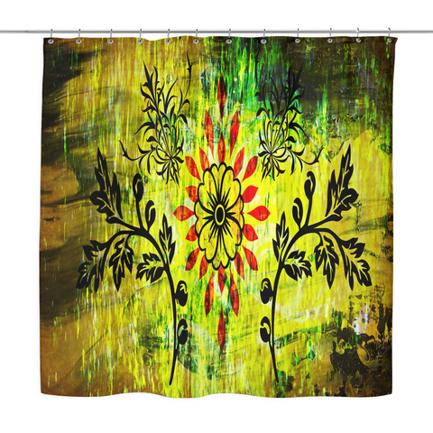 Colorful Vintage Shower Curtain