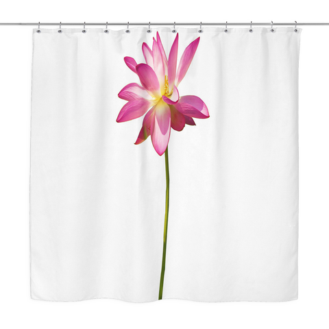 Pink Lotus Flower Curtains