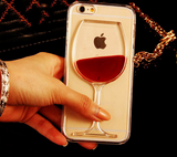 iPhone Liquid Red Transparent Phone Case Hard PC Back Cover
