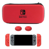 5Pc. Nintendo Switch Bundle Protective Carry Case Bag EVA Shell and Silicone Gel Guards 2pcs Thumbstick Caps