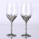 Quality Vintage Crystal Wedding Wine Glass Hanap Set