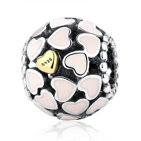 Sterling Silver Love All Around Charms Beads