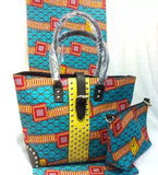 FASHION WOMENS HANDBAG SET WITH 100% COTTON WAX FABRIC