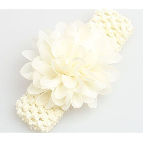 Chiffon Lace Flower Headband