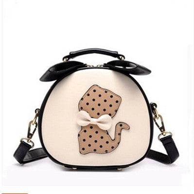 Ladies Cat Crossbody Bags With Bow