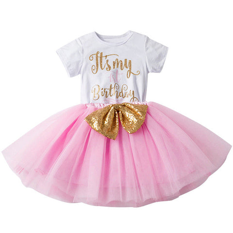 1-1 Piece Baby 1st  or 2nd Birthday Tulle Dress