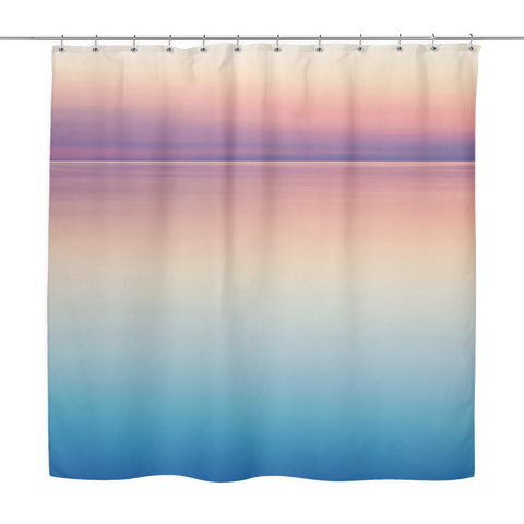 Colors Of Sunset On The Ocean Shower Curtain