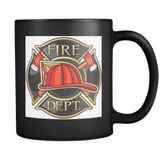 11oz. Black Fire Dept Mug