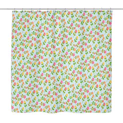 Strewn Roses Shower Curtain